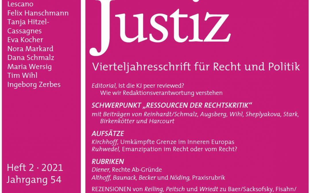 Übersetzung von Bernard E. Harcourt: Die Kritik und Praxis der Rechte für KJ Kritische Justiz 2021