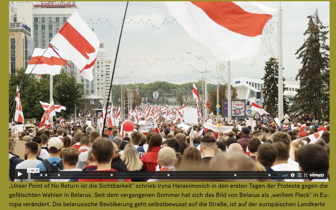 Moderation bei der Online-Veranstaltung Point of No Return – Stimmen aus Belarus am Literarischen Colloquium Berlin